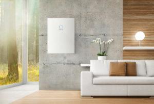 batteria sonnen per fotovoltaico, installata nel soggiorno. Nuova sonnenBatterie hybrid 9.53