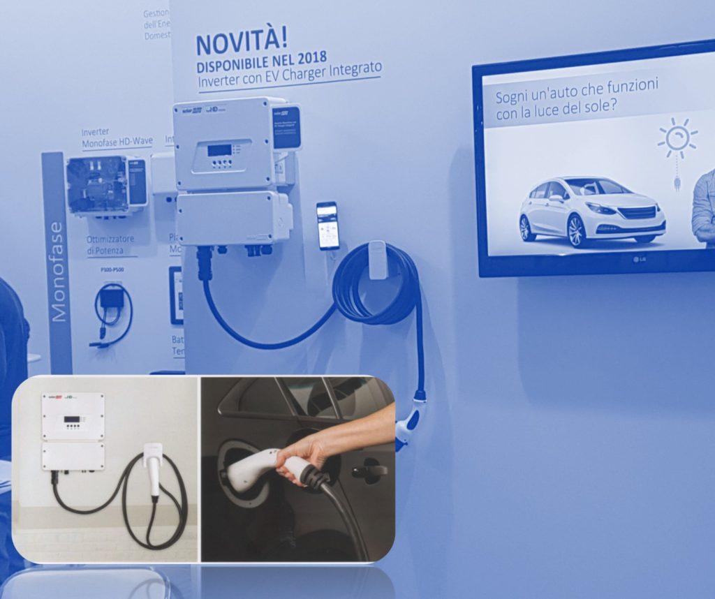 Inverter Fotovoltaico predisposto per la ricarica delle auto elettriche