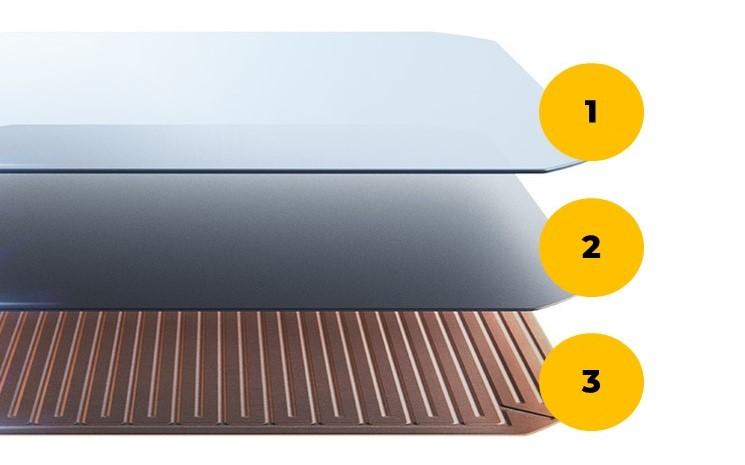 cella fotovoltaica del pannello fotovoltaico ad alta efficienza SunPower. Tecnologia Maxeon 3
