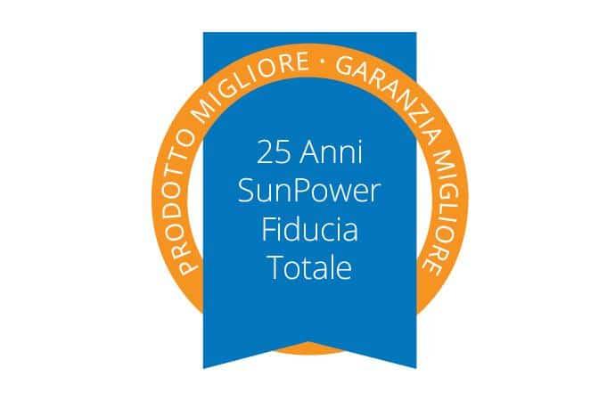 Garanzia completa pannelli SunPower