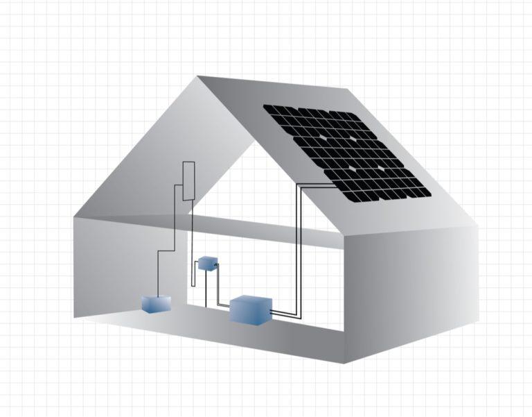 schema di un impianto fotovoltaico con accumulo