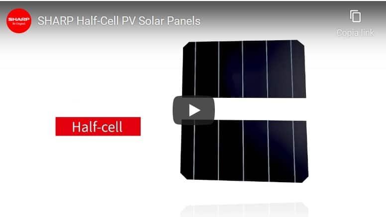 imagine video pannelli fotovoltaici sharp half-cut