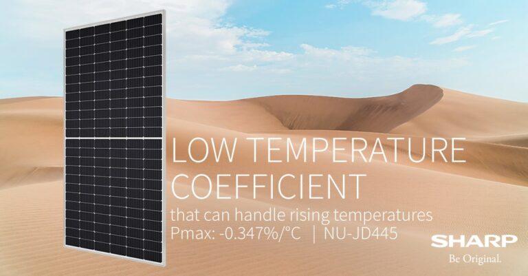 pannelli fotovoltaici Sharp affrontano meglio le alte temperature