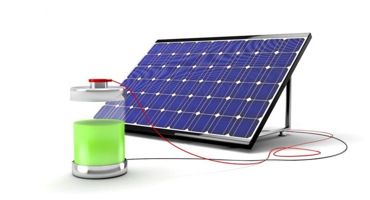 Questa immagine illustra il fotovoltaico con accumulo per fotovoltaico. La batteria per fotovoltaico è il componente principale di un sistema di accumulo.